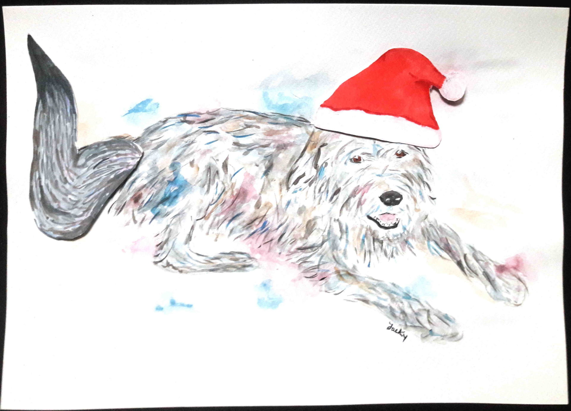 """Wolf as Santa"""